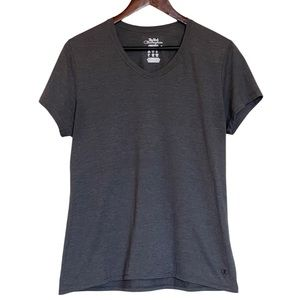 CHAMPION Gray Fitted Athletic Shirt Women's Large